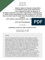 City News & Novelty, Inc. v. Waukesha, 531 U.S. 278 (2001)