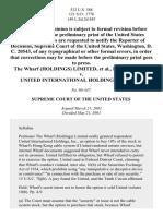 Wharf (Holdings) Ltd. v. United Int'l Holdings, Inc., 532 U.S. 588 (2001)