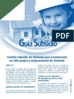2 Guia Para Subsidio de Construcción en Sitio Propio y Mejoramiento de Vivienda