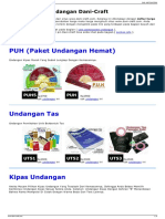 Daftar Harga Undangan Dani-Craft