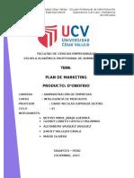 Plan de Marketing Producto Donofrio