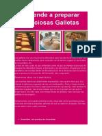 Aprende a Preparar Deliciosas Galletas