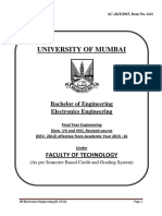 Electronics Syllabus for Mumbai University