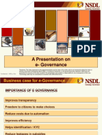 Presentation on eGovernance