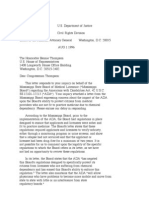 US Department of Justice Civil Rights Division - Letter - tal708