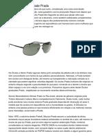 Óculos Com Claridade Prada