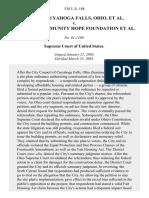 Cuyahoga Falls v. Buckeye Community Hope Foundation, 538 U.S. 188 (2003)