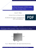 Computational Fluid Dynamics Using Graphics Processing Units