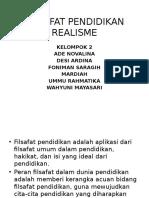 FILSAFAT PENDIDIKAN REALISME