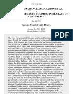 American Ins. Assn. v. Garamendi, 539 U.S. 396 (2003)