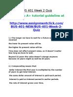 BUS 401 Week 2 Quiz
