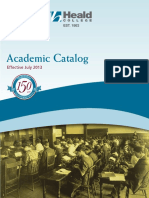 Heald Academic Catalog July 2013