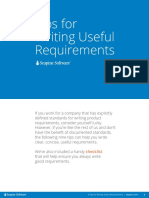9 Tips Writing Useful Requirements