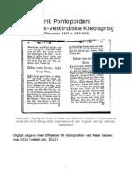 Det Dansk-Vestindiske Kreolsprog. Af Erik Pontoppidan