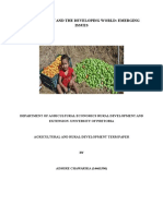 Food Security and the Developing World-Emerging Issues
