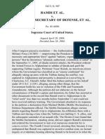 Hamdi v. Rumsfeld, 542 U.S. 507 (2004)