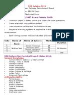 RRB Syllabus 2016