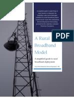 A Rural Broadband Model