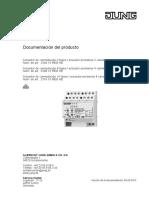 Guía de programación actuador de persianas 2304 Jung