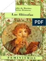 Giulio de Martino, Marina Bruzzese - Las filosofas.pdf