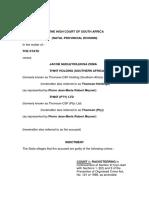 #SpyTapes Jacob Zuma Charge Sheet (2009)