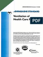 108569613 ASHRAE STandard 170 2008 Ventilation of Health Care Facilities