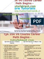 CJA 354V4 Course Career Path Begins Tutorialrank.com