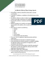 Presentation Delivery Tips