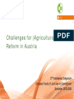 Challenfes For land Reform in Austria