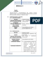 evauacion  de proyectos  Modulo i y II