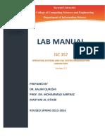 ISC 357 Lab Manual