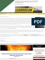 Recubrimientos de Protección Pasiva contra Fuego en Materiales Cementicios
