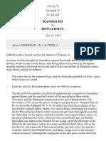 Randolph v. Donaldson, 13 U.S. 76 (1815)