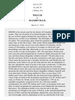 Welch v. Mandeville, 14 U.S. 233 (1816)