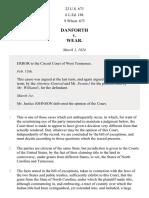 Danforth v. Wear, 22 U.S. 673 (1824)