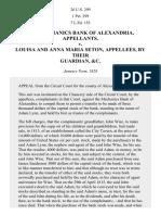 The Mechanics Bank of Alexandria v. LOUISA & MARIA SETON, 26 U.S. 299 (1828)