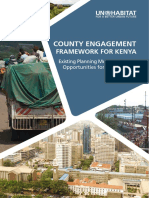 County Engagement Framework for Kenya