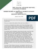 Swayze and Wife v. Burke, 37 U.S. 11 (1838)