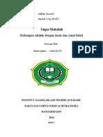 Hub Akhlak Dgn Iman Dan Amal Saleh