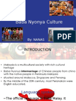 Baba Nyonya Culture