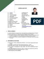 Curriculum Vitae Billy Edson Chamana Actualizado Abril 2016