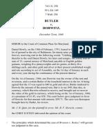 Butler v. Horwitz, 74 U.S. 258 (1869)