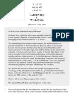 Carpenter v. Williams, 76 U.S. 785 (1870)