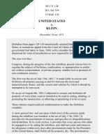 United States v. Klein, 80 U.S. 128 (1872)