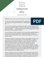 United States v. Jonas, 86 U.S. 598 (1874)