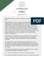 United States v. Herron, 87 U.S. 251 (1874)