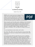 Blake v. National Banks, 90 U.S. 307 (1875)