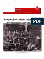Proposal for a New International, What Does the Communist Party of Canada have to Say?