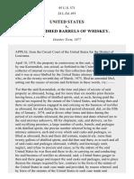 United States v. 200 Barrels of Whiskey, 95 U.S. 571 (1877)