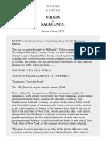 Wilson v. Salamanca, 99 U.S. 499 (1879)